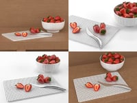 strawberries smallaccents 3D model