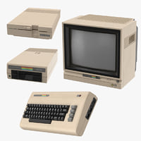 3D commodore 64 model