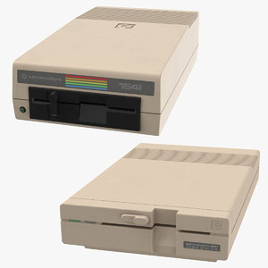 commodore floppies 3D model