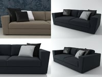 canyon 2-seater sofa 3D model