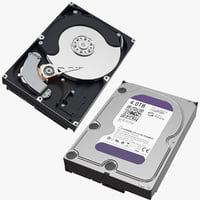 computer hard drives open 3D