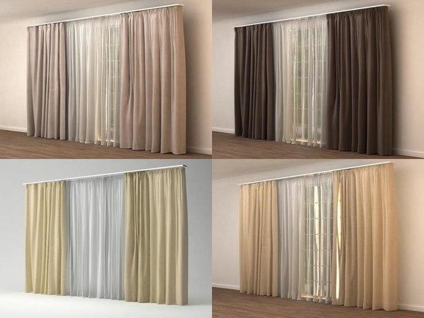 window-curtain 02 n 3D