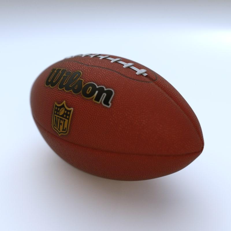 realistic football 3D model