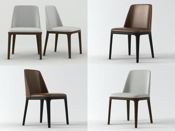 3D grace chair model