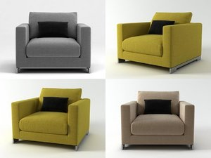 3D reversi armchair