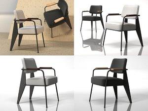 3D model fauteuil direction 1951