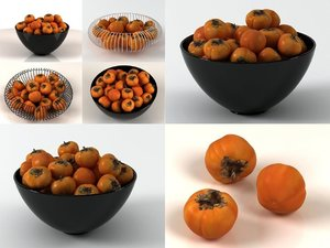 persimmons smallaccents 3D model