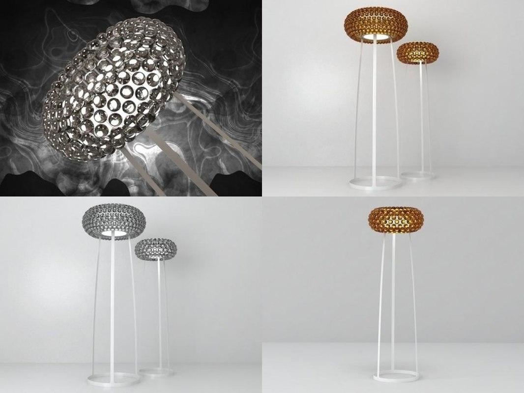 3D model caboche floor lamp