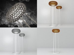 3D model caboche floor lamp