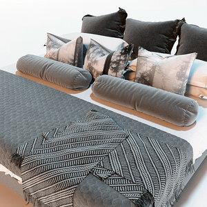 bed marvelous designer 3D
