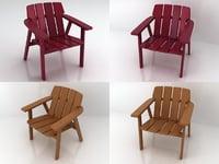 taja armchair 3D model