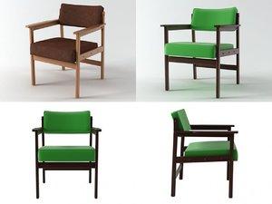 tiao armchair 3D