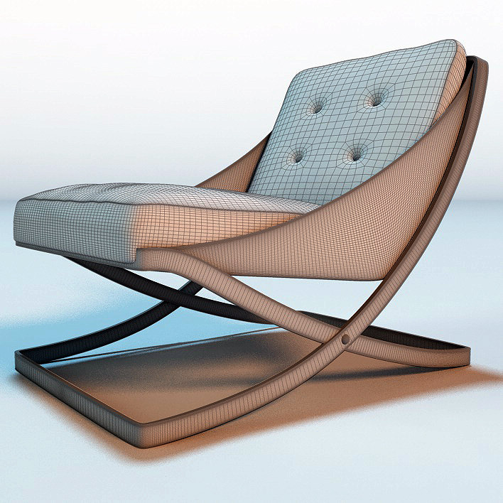 nube italia rest armchair 3D model