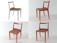 3D play wooden chair model