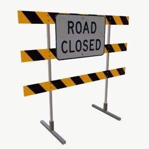 3D mapped roadblock