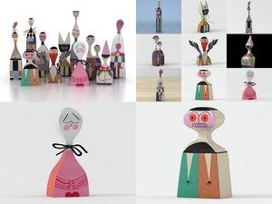wooden dolls model