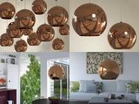 3D model copper shade pendant