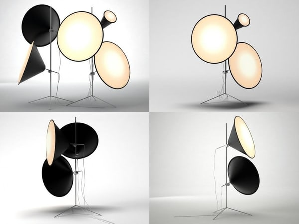 cone light stand 3D