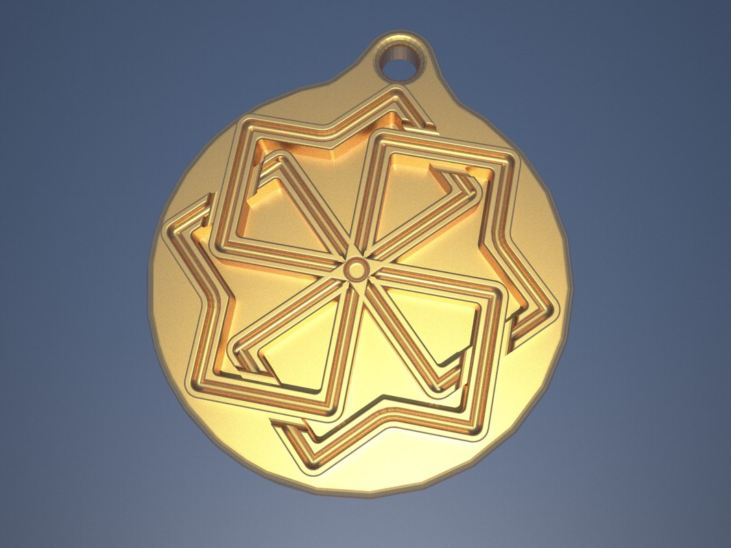 slavic amulet molvinec 3D model