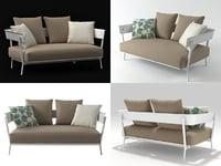 aikana 2-seater sofa 3D