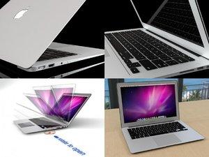 3D macbook air model