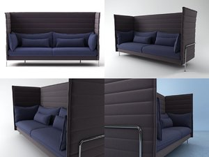 3D alcove 3-seater