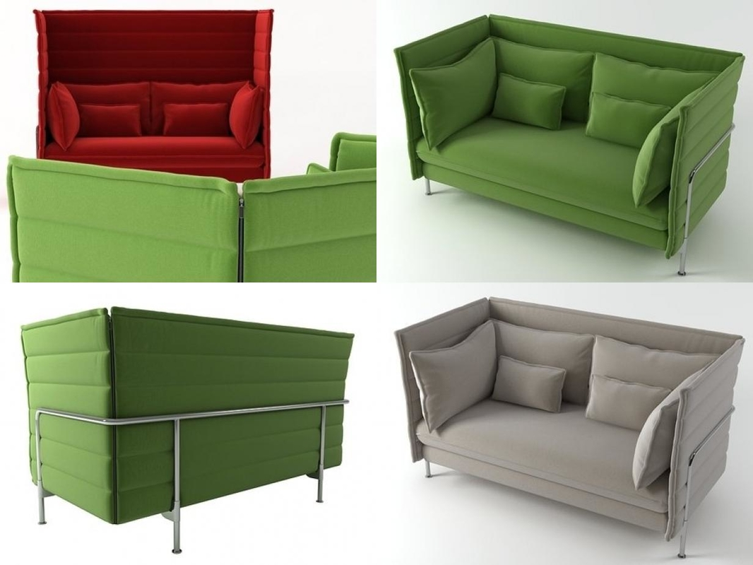 3D alcove 2-seater model