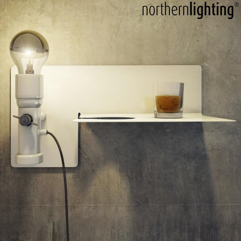 3D model lamp candle decor