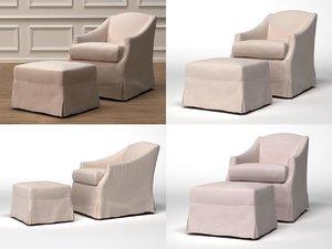 demi armchair ottoman 3D model