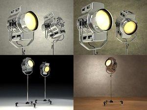 3D 1940s floor lamp model