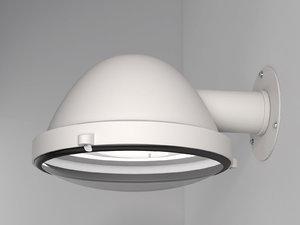3D outsider wall lamp model