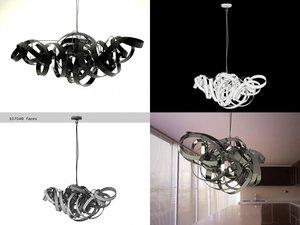 3D montone chandelier triangle