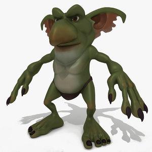 3D model fantasy cartoon monster