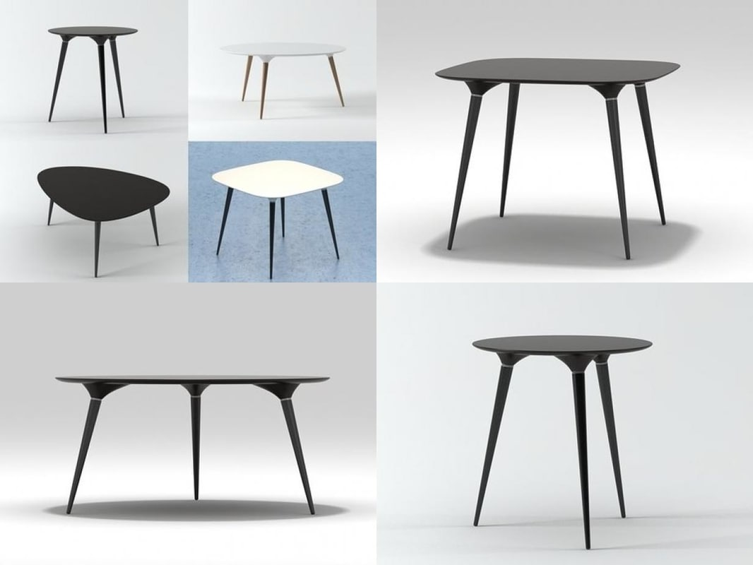 3D icicle table series model