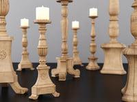 florentine candlesticks 3D