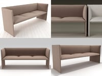 3D model mono sofa 195