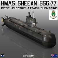 australian hmas sheean ssg 3D