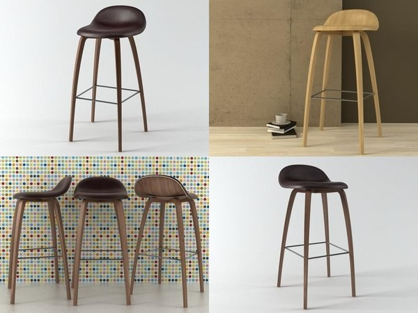stool 4-legged 3D model
