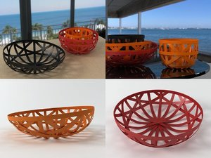 strip leather baskets 3D