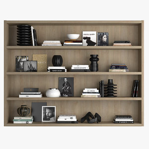 3D shelf decor model