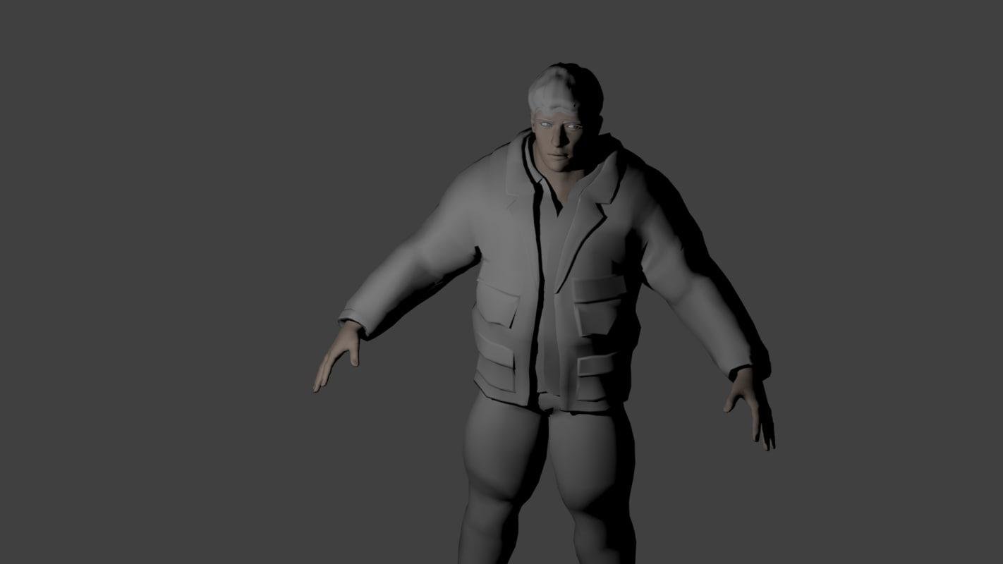 3D man muscles