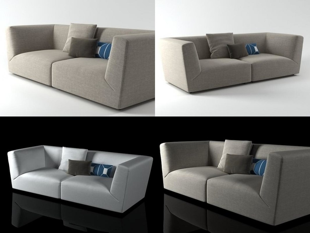 ... 3D Soho High Arm Sofa Model ...