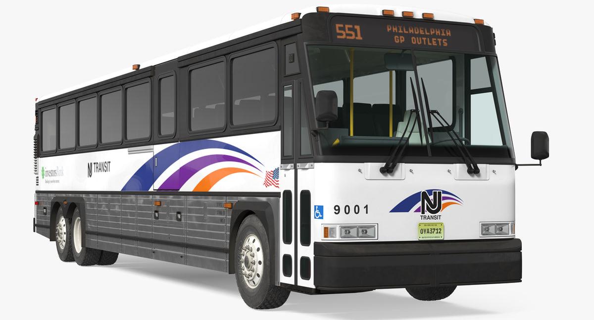 intercity bus mci d4500 3D model