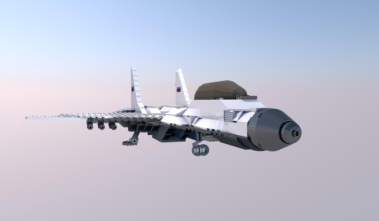 3D model lego jet plane