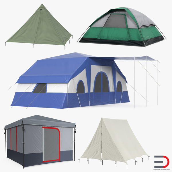 camping tents 2 3D model