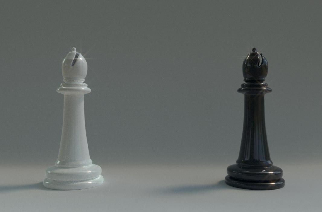 bishop chess piece 3D
