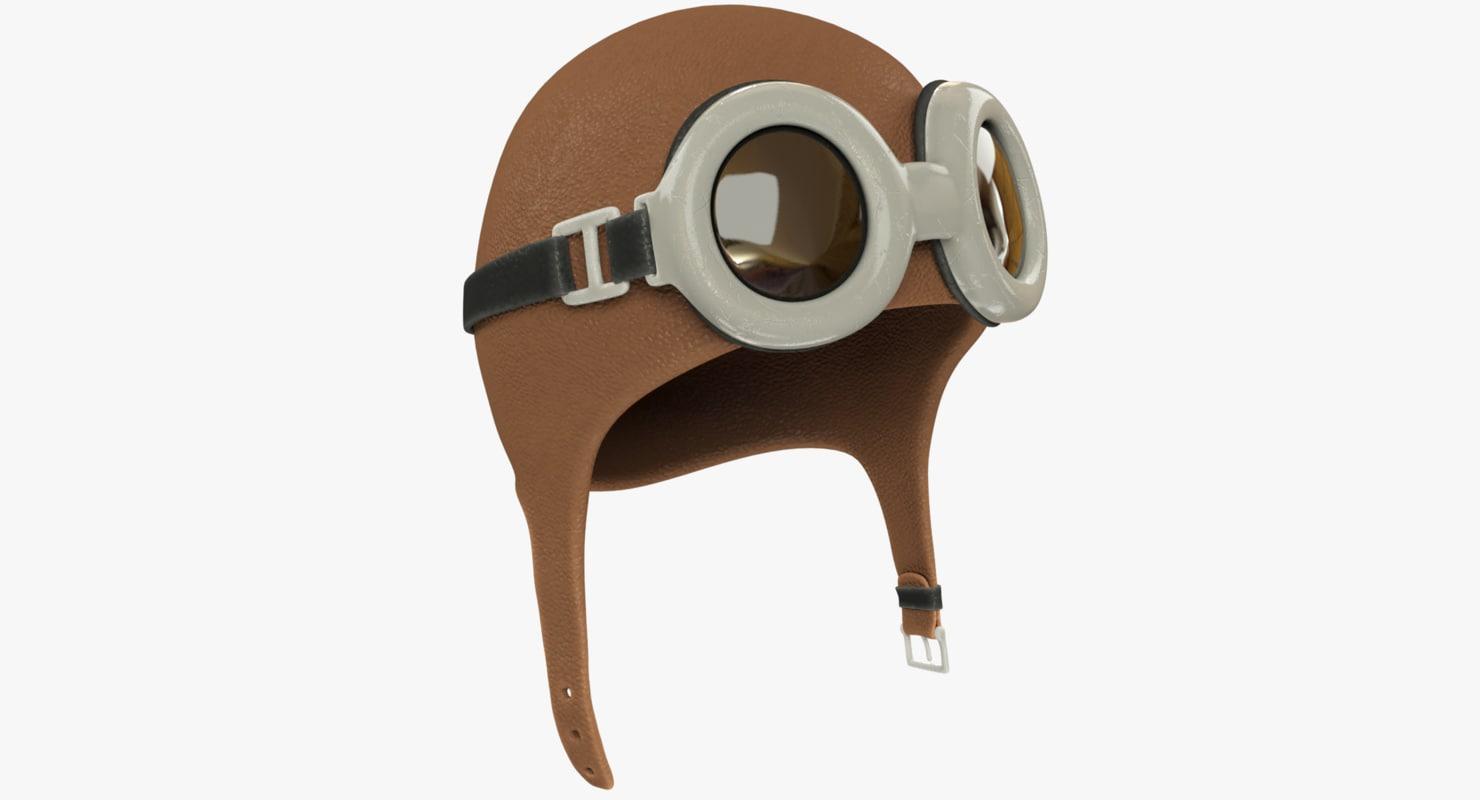 3D ancient pilot helmet