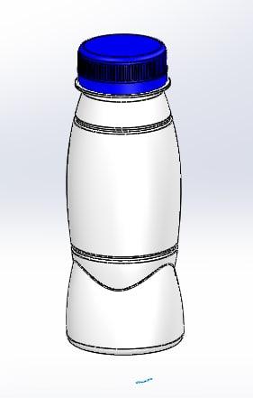 200 ml pet bottle 3D model