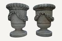 3D model stone vases parks