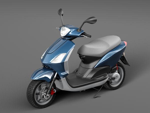 3D scooter motorbike motor